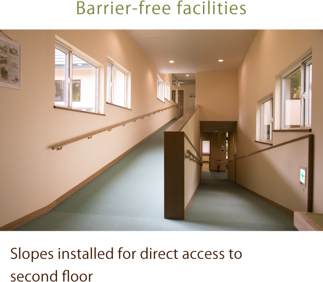 Barrier-free facilities