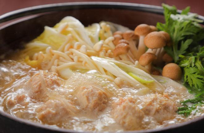 地鶏のたたき鍋